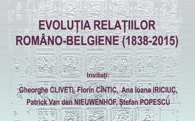 Masă rotundă CIRI 5 noiembrie 2015: Evoluția relațiilor româno-belgiene (1838–2015)